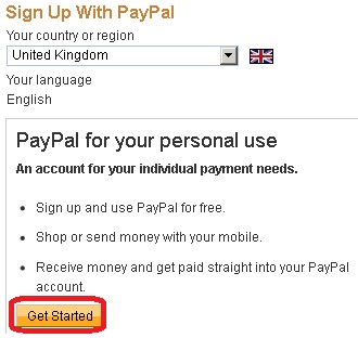 registered paypal account