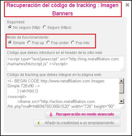 codigo tracking programa netaffiliation