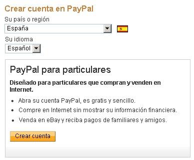crear cuenta paypal