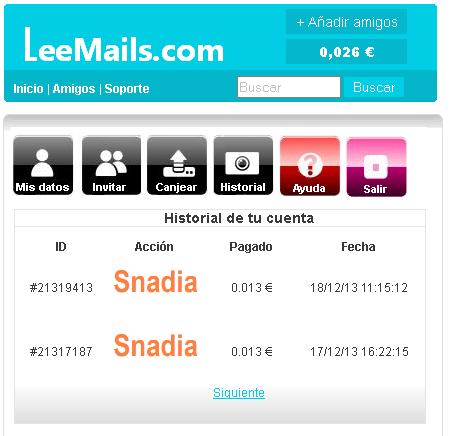 historial leemails.com